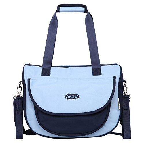 Preisvergleich Produktbild Eshow Oxford Gewebe Wickeltasche Mummy Bag Mama Tasche Baby Handtasche Umhängetasche Multifunktional, Blau