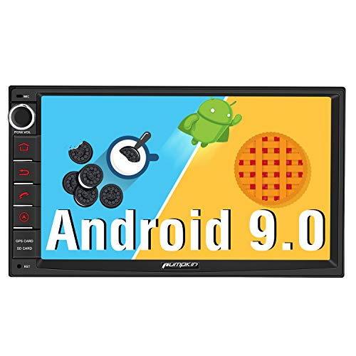 Pumpkin Android 9.0 Autoradio GPS 2 Din Ecran 7 Pouce ROM: 32 Go stéréo de Voiture supporte Bluetooth 3G WiFi USB SD RDS Radio Commande au Volant OBD2