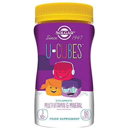 Solgar U-Cubes - Multi-Vitamin & Mineral Glycerized Kautabletten für Kinder - 60 Pack - Multivitamin 60 Kautabletten
