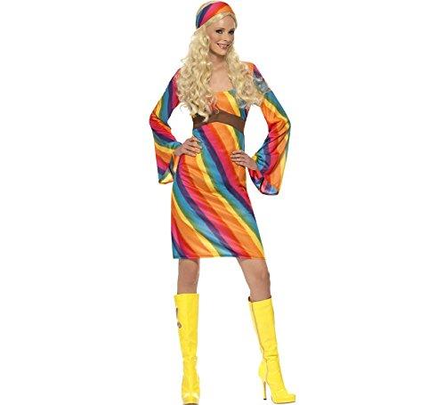 Imagen de disfraz hippy arcoiris para mujer