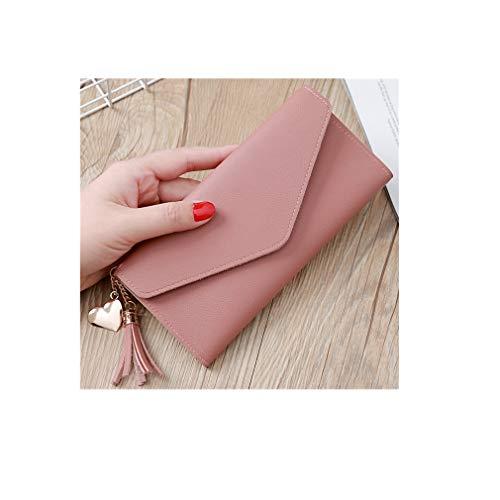 LIXIAQ1 Umschlag Brieftasche Quaste Liebe Anhänger Geldbörse Snap Kartenhalter Exquisite Handtasche Clutch Geldbörse, Gummi rot -