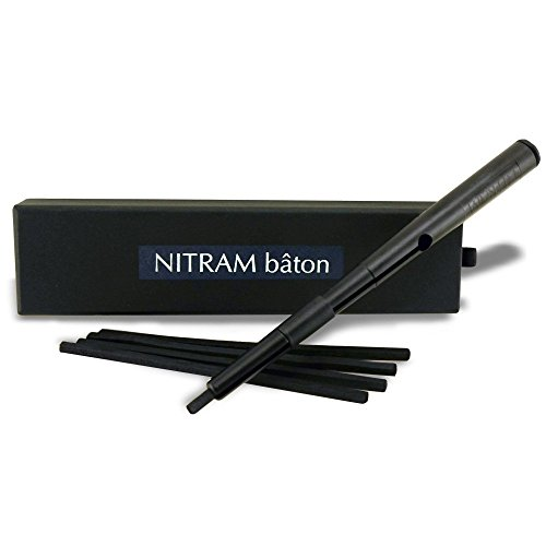 Deluxe Charcoal (Nitram Bâton Deluxe Charcoal Holder and 5 Mignonette Charcoal Refills Set in Black Box)