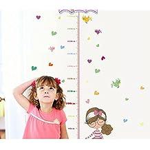 Skyllc® Preciosa niña del paraguas pegatinas altura Kinder ambiente decorativo de pared pegatinas de PVC de los niños