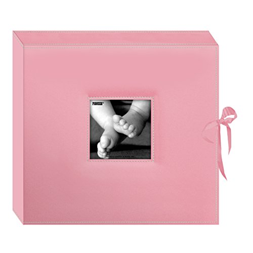 Pioneer 13x 37cm Genäht Kunstleder D-Ring Scrapbook Box, Baby Pink (Genähte Kunstleder)