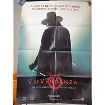 Original Advance Spanish Movie Poster V For Vendetta V De Venganza Hugo Weaving Natalie Portman Rupert Graves