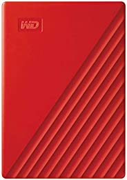 WD 2TB My Passport Portable External Hard Drive, Red - WDBYVG0020BRD-WESN
