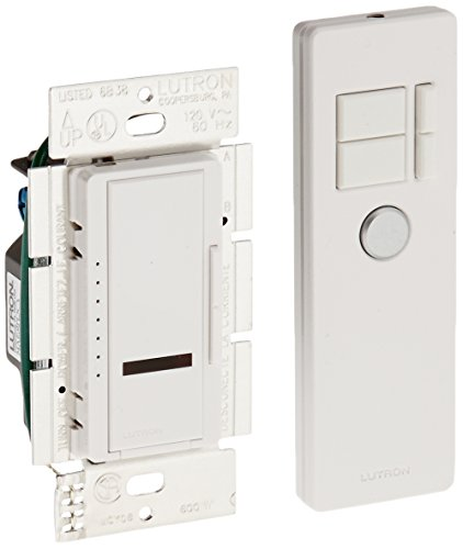 Lutron MIR-600MT-WH Maestro IR 600-Watt Multi-Location Dimmer with IR Remote Control, White by Lutron