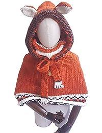 MIAOMIAOWANG Niños Doble Uso suéter Bufanda Gorras Mantón Lindo Orejas de  Animales Diseño Sombreros Tejidos Invierno 99d186c96f4