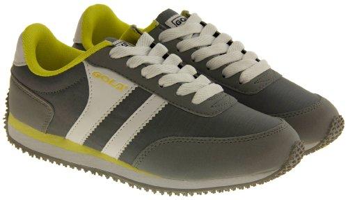 Footwear Studio , Chaussures de squash pour homme multicouleur Blanc/jaune - Grey, Yellow & White