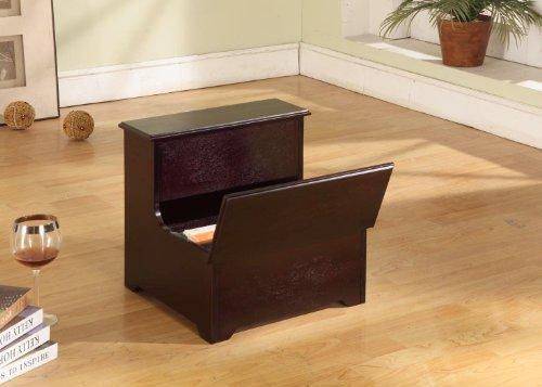 Kings Marke Cherry Finish Holz Schlafzimmer Bett Aufbewahrung Schritt Hocker -