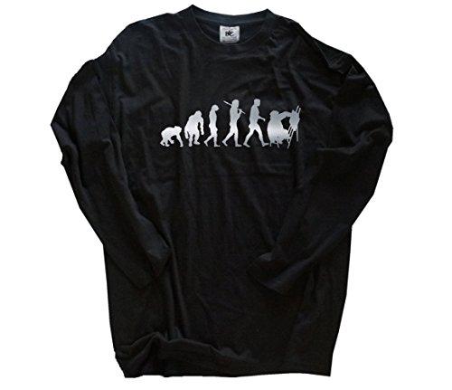 Silber Edition Kunstmaler Staffelei Maler Malerei Gemälde Evolution Longsleeve-Shirt Schwarz XXL