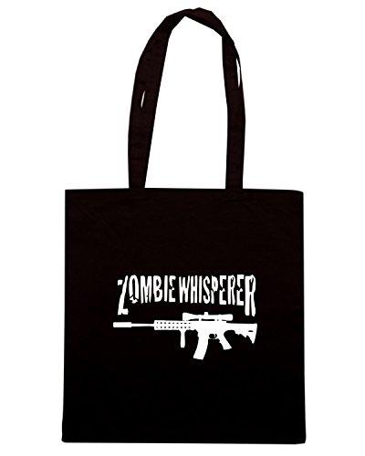 T-Shirtshock - Borsa Shopping TZOM0067 zombie whisperer 2 Nero