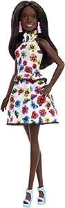 Barbie Fashionista - Muñeca morena con vestido floral (Mattel FXL46)