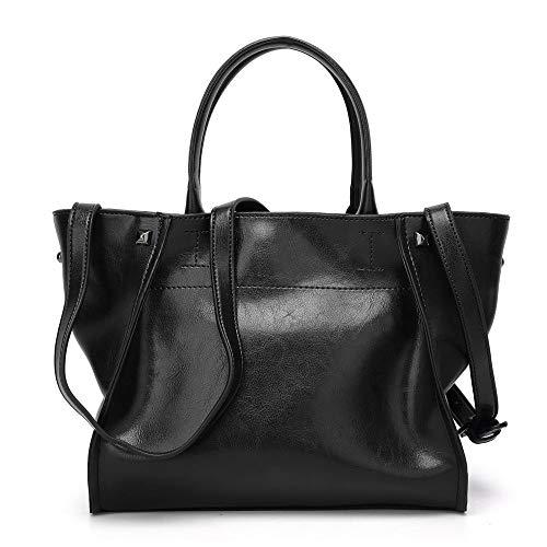 de03405a2c17 LFNYZX Retro Trapeze Bag Oil Wax Leather Handbags Women s Bag Brand Design Shoulder  Bag Female Totes