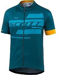 Scott RC Team 10 Fahrrad Trikot kurz blau 2017