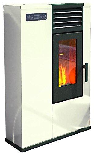 Eva stampaggi 98017-20 pellet susy slim stufa punto fuoco, 7.5 kw, avorio