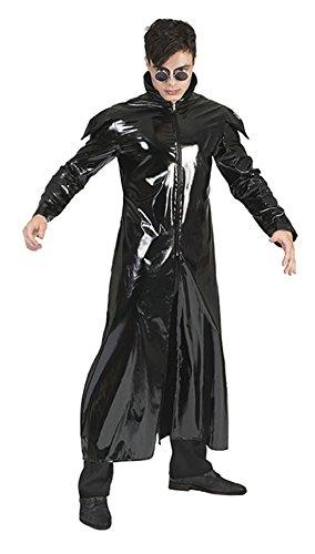 Karnevalsbud - Herren Halloween Karnevals-Kostüm Set Nightmare Gothic Darkness Matrix, XL, Schwarz