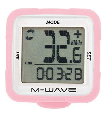M-Wave Fahrradcomputer XIV Silicon, Rosa, 11117