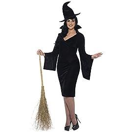 Costume da strega di colore nero per Halloween f1e1ae90b73