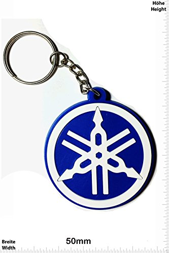 keychains-porte-cles-yamaha-round-blue-motocross-motorcycle-motorbike-skater-scooter-sport-key-ring-