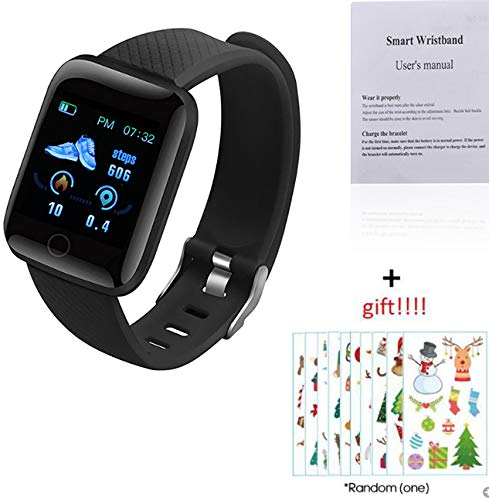 Explopur SmartWatch - IP67 Impermeabile Color Screen Touching Sports Fitness Orologio - 1,3 Pollici BT Smartwatch con frequenza...