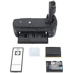 DSTE Télécommande Vertical Batterie Poignée Titulaire pour Canon EOS 5D Mark II 5D2 DSLR Caméra comme BG-E6 avec 2-pack LP-E6