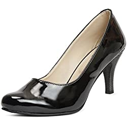 Meriggiare Women Patent Leather Black Heels 36 Eu