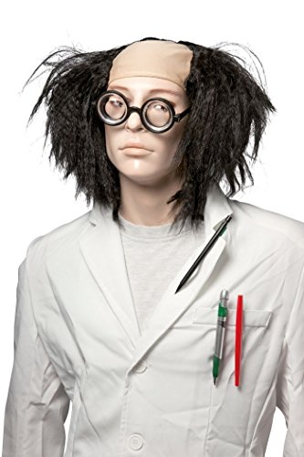 n 68501Perücke verrückter Wissenschaftler–Schwarz (Verrückter Wissenschaftler Perücke Für Erwachsene)