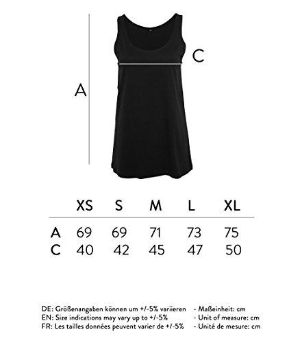 Ladies modisches Oversize Tanktop girls do not dress for boys - Schwarz & Weiß - Fashion lang und weit geschnittenes Shirt mit Motiv - Neu Schwarz