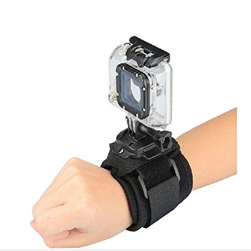accessoires GoPro 360degrés de rotation Glove-style poignet à la main support de sangle pour GoPro Hero 4/3+/3/2/1