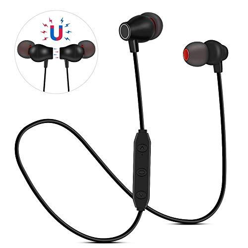 Bluetooth Kopfhörer In Ear Sport V4.1, Vegena Kabellose Kopfhoerer Magnetisch Headset mit Mikrofon Schweißfest Sportkopfhörer Jogging Fitness Workout Stereo Ohrhörer für iPhone iPad Samsung Huawei HTC