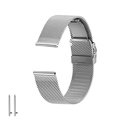 Steel Folding Replacement Watch Metal Eonpow Stainless Wristbands Strap Band PwOZilkuTX