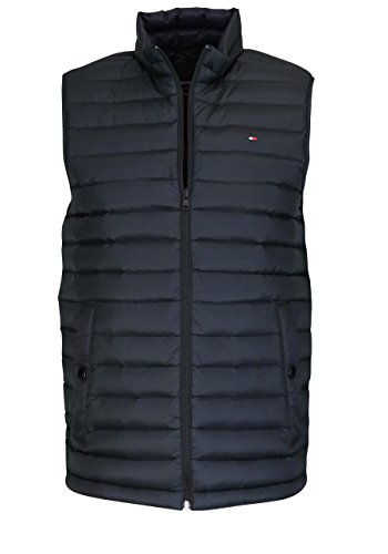 Tommy Hilfiger Herren Outdoor Weste Core LW Packable Vest, Schwarz (Jet Black 083), X-Large