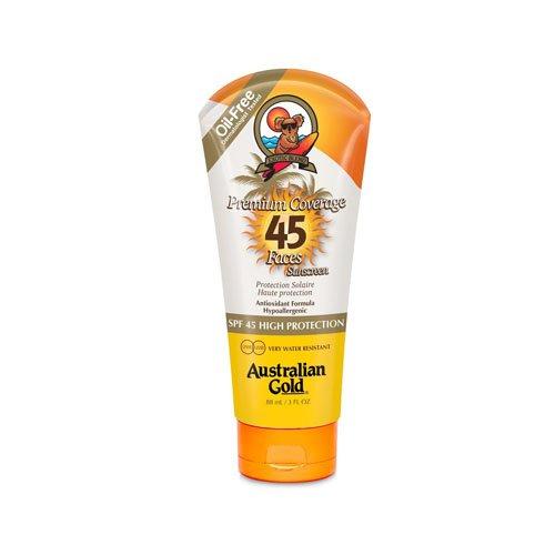 Australian Gold Premium Coverage Sheer Faces Protector Solar Facial SPF45 - 88 gr