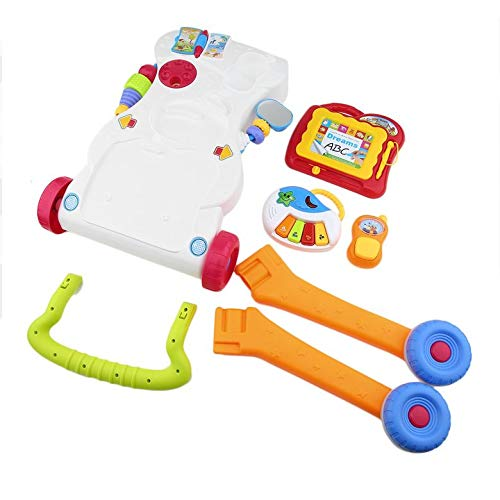 Fanyong-DE Baby Walker multifunktionale Kleinkind Sit-to-Stand Walker mit einstellbarer Schraube
