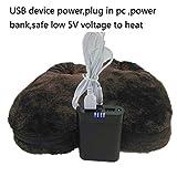 Healifty Fußwärmer Hausschuhe Winterschuhe USB Plüsch Schuhe (Kaffee) - 6