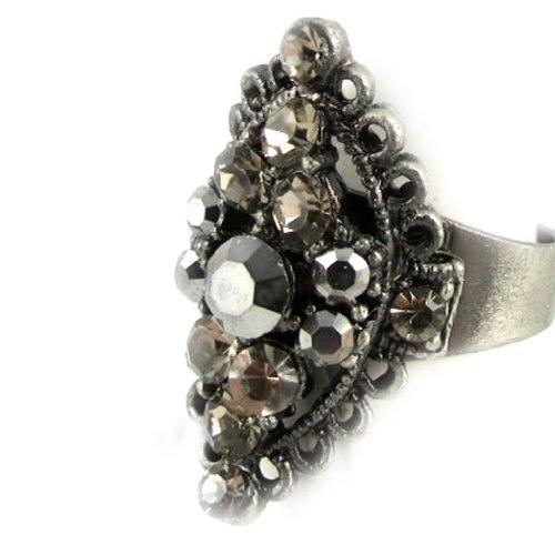 Les Trésors De Lily [D9801] - Ring 'La Véronèse' grigio.