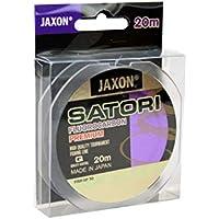 Jaxon Satori - Hilo de pesca (fluorocarbono, 20 m, bobina de 0,10-0,60 mm), transparente, 0,12mm / 2,5kg