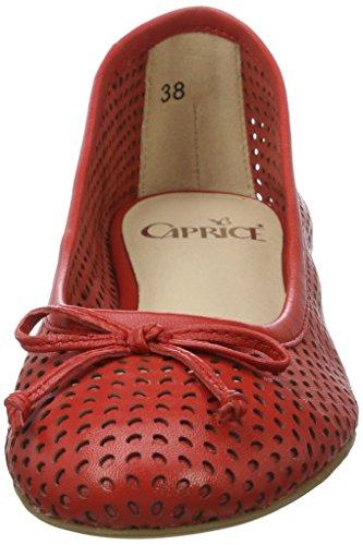 Caprice Ladies 22109 Ballerine Chiuse Rosse (nappa Rossa)