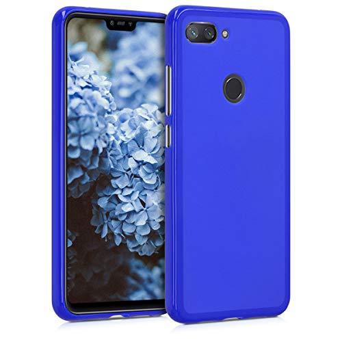 kwmobile Funda para Xiaomi Mi 8 Lite - Carcasa para móvil en TPU Silicona - Protector Trasero en Azul Real