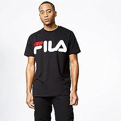 Fila, Camiseta Print, Black, XS