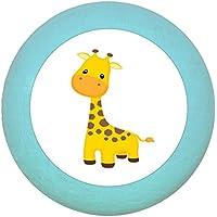 """Möbelgriff""""Giraffe"""" Holz Buche Buche Kinder Kinderzimmer wilde Tiere Zootiere Dschungeltiere 1 Stück Traum Kind"""