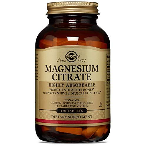 Solgar Citrato de Magnesio, 120 Comprimidos - Función muscular y reducción de la fatiga. Apto...