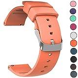 JIELIELE Uhrenarmbänder 22mm Edelstahl Gürtelschnalle Armband Silikonkautschuk Sehr Schön Gearbeitetes Ersetzen Sie Das 22mm Ersatz Zubehör (22mm, Orange)