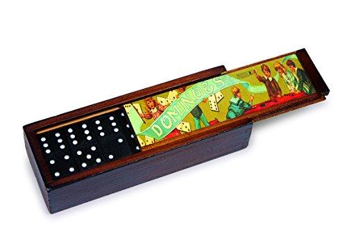 Legler 2931 Domino Nostalgie, Spiel, 2er Set (Holz Domino Set)