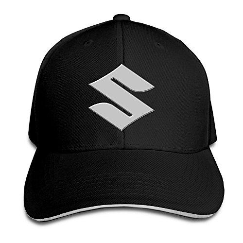 hittings-suzuki-motorcycle-logo-adjustable-snapback-peaked-cap-baseball-hats-black