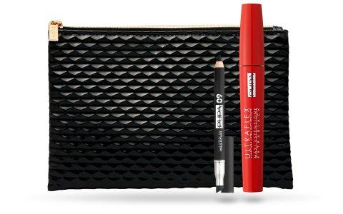 PUPA Kit De Mascara Ultraflex Multiplay + + Mini Embrague Y Cosméticos Del Maquillaje