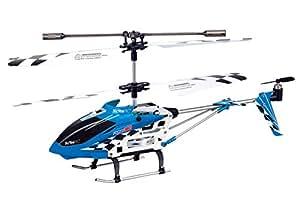 XciteRC - 12007000 - Hélicoptère - Flybar 180S Coax RTF - 3,5 canaux - Radiocommandé - Bleu