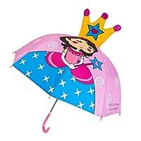 FATTERYU Children Umbrella Boys Girls Cartoon With Animal Ears Umbrella Custom Princess Long Handle Safe Light Portable Umbrella