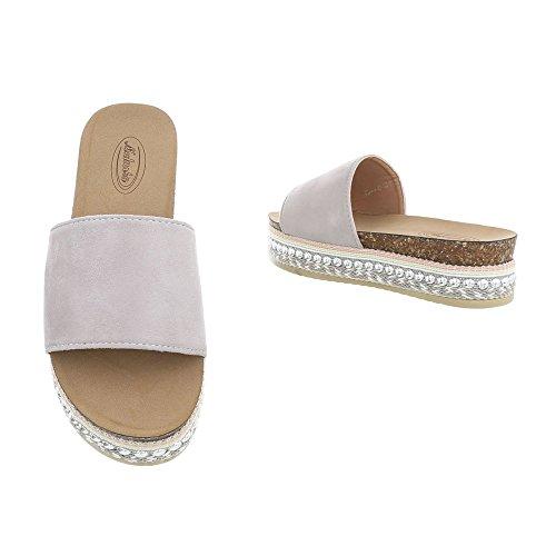 Gris G78 Chaussures Femme Sandales Plates Italdesign Clair YUIqpp